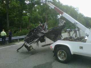 What's left of Ryan Dunn vehicle. Porsche 911 GT3. 130mph & twice the legal BAC. | by subewl