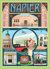 New Zealand Postcard -Art Deco Napier | by Contour Creative Studio
