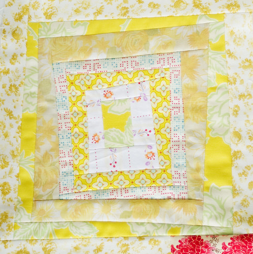 Yellow Squares Quilt Block 7 | by pricklypearbloom