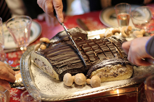 attacking the bûche | by David Lebovitz
