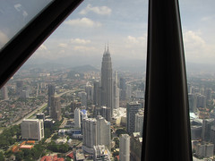 Petronas Towers as seen from Menara Tower | by Bobbi Newman