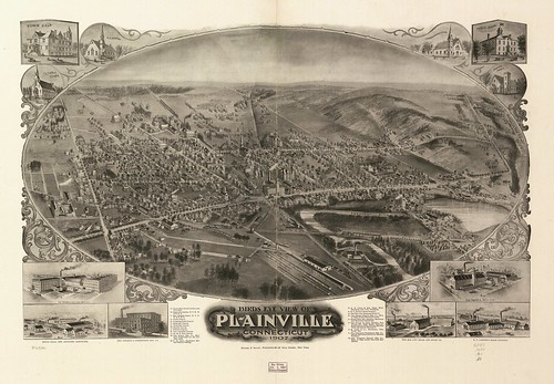 Birds Eye View of Plainville, Connecticut, 1907 | by uconnlibrariesmagic