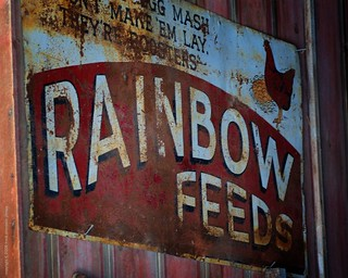 Rainbow Feeds Sign - Red Barn Farm, Weston, Missouri | by frank thompson photos