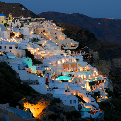 Oia by night (Santorini) | by MarcelGermain