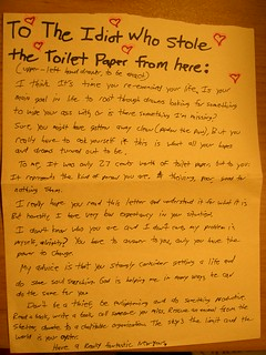 The Toilet Paper Ministry | by passiveaggressivenotes