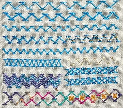 Chevron stitch - detail 1 | by stitchingbushwalker