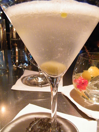 """New Way"" Dirty Martini with brine ""air"", MyLastBite.com 