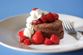 chocolate shortcake with strawberries | by Madison Bistro