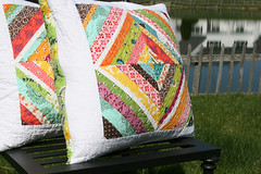 string block quilted pillows | by filminthefridge