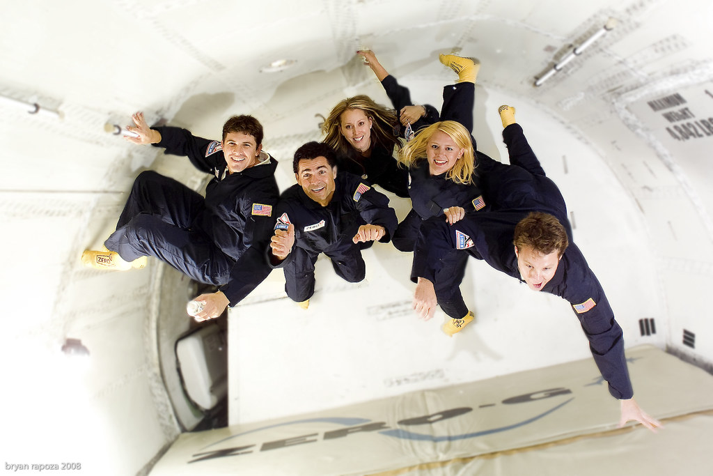 zero gravity flight 69 marketing photos