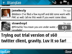 Gravity s60 twitter client Screenshot0069 | by roland
