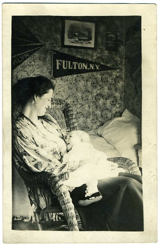 Real Photo Postcard: Woman Nursing Her Baby | by mrwaterslide