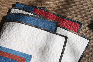 Solids & Squares Quilt - binding detail | by alissahcarlton