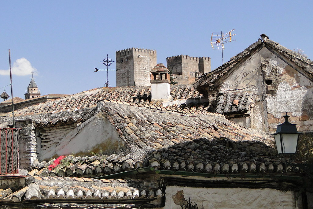 Classical Architecture and Tiled Roofs - Albaicin - Granada, Spain
