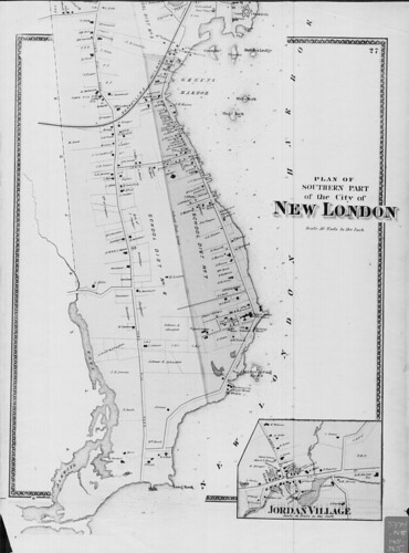 Plan of the southern part of the city of New London. (Petersen Collection) | by uconnlibrariesmagic