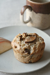Pear, Ginger and Walnut Muffin | by Isabelle @ Crumb