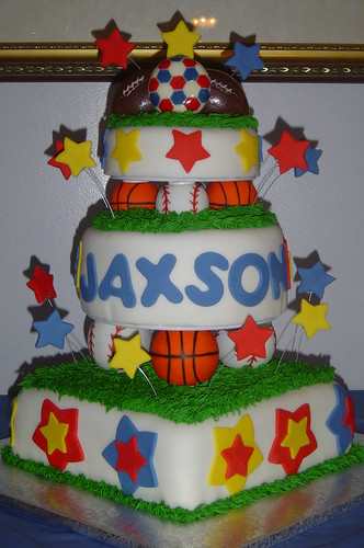 Sports Ball Birthday Cake  This cake was for a little boy c ...