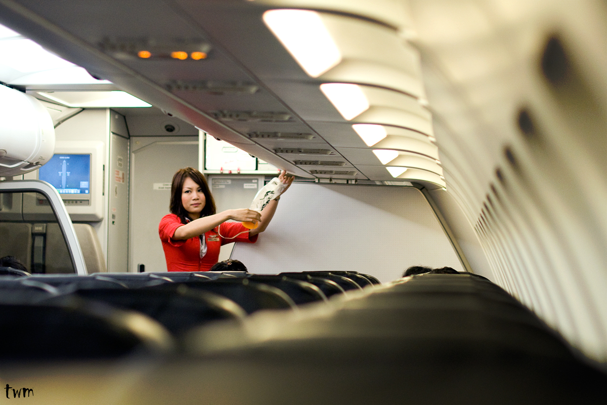 The Red Lady on board, AirAsia