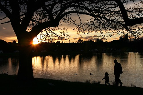 Father and Daughter, Sunset at Centennial Park Sydney Australia | by Alex E. Proimos