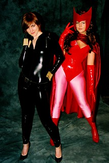 2009 ECCC Cosplay: Black Widow and Scarlet Witch | by JIM Mourgos