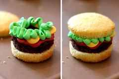 Brownie Burger Cupcake | by Bakerella