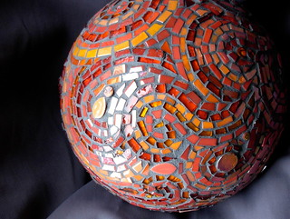 Mosaic Gazing Ball Detail | by Nutmeg Designs