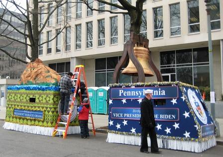 Floats for the Inaugural Parade, 2009.