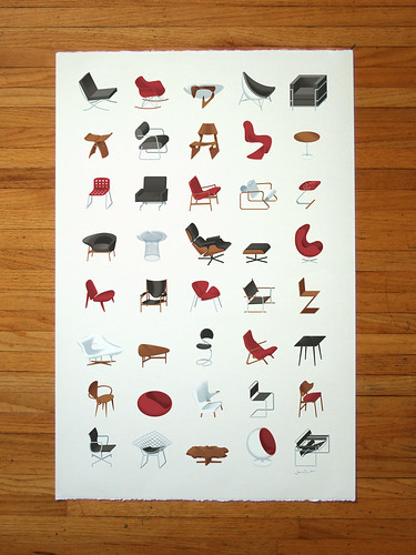 Mid-Century Modern Furniture Poster | by James Provost