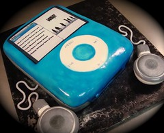 blue ipod cake | by debbiedoescakes