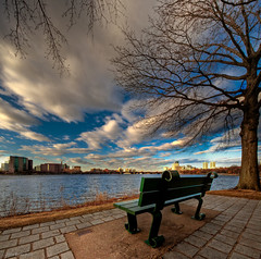 Park Bench on the Charles River, Boston | by briburt