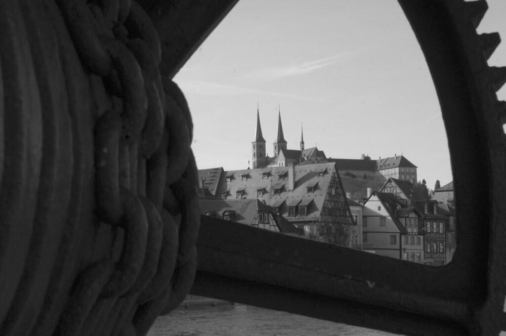 Blick auf den Michelsberg vom Kranen
