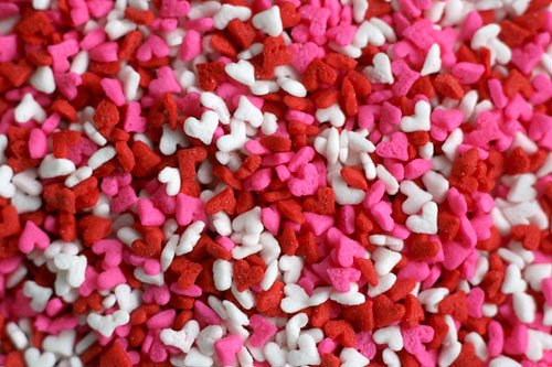 Mini Heart Sprinkles | by Bakerella
