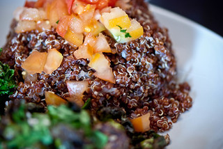 Red Quinoa with Tomatoes | by swellvegan