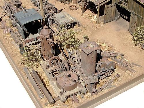 Model Railroad Diorama Logging Rr Shop Junk Corner