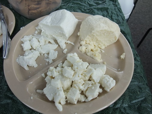 Fresh Cheeses from Integration Acres at the Athens Farmers Market 8/8/09 | by swampkitty