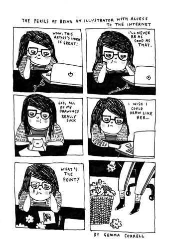 the perils of being an illustrator with access to the internet | by gemma correll