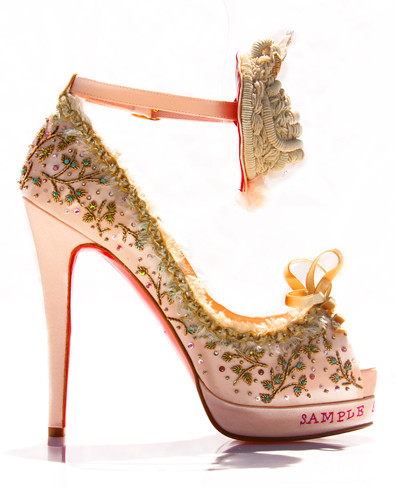 Christian Louboutin Lesage Marie Antoinette Heel - Pink | by ShoeDaydreams