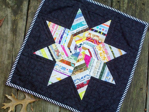 Selvage Star Mini Quilt | by quilts by elena