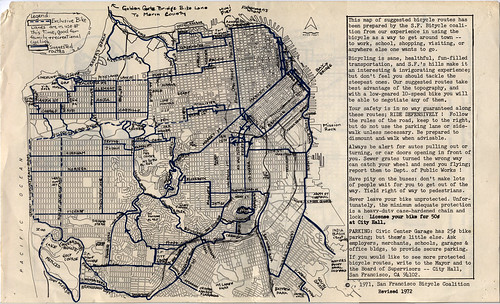 1972 SFBC Bike Route Map, inside | by sfbike