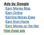 """Hide These Ads"" Google AdSense 