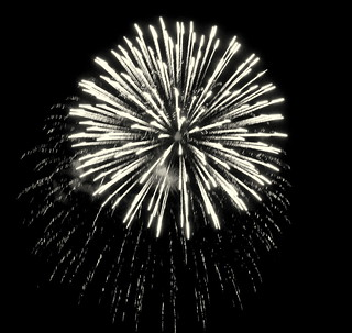 Fireworks in Black and White -- An Amazing Explosion of Color, too! | by Clara Hinton