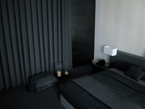 Update: Bedroom with New Dark Gray Curtains | by RichardinLA