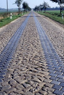 Cobbled road west of Magdeburg  Oct 1995 | by sludgegulper