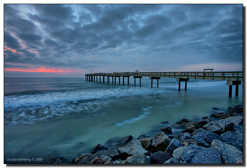 St augustine beach pier at sunrise st augustine beach for St augustine fishing pier