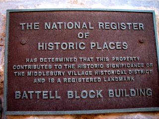 Battell Block (1892-98) – NRHP plaque | by origamidon
