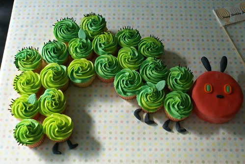 The Hungry Caterpillar Cupcakes Cake! | by Coco Cake Land