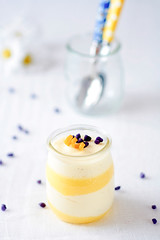 Meyer Lemon Curd and Chamomille Vanilla Bean Mousse | by tartelette