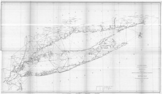 Sketch B no. 2, showing the triangulation and geographical positions in section no. II from New York City to Point Judith. | by uconnlibrariesmagic