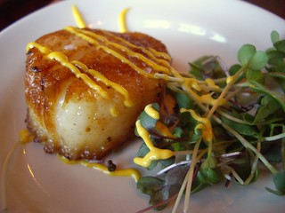 Seared Sea Scallop with Saffron Aioli | by swampkitty