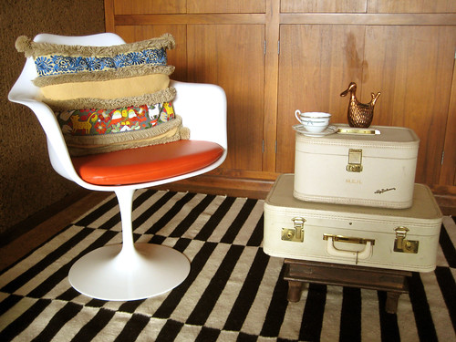 vintage suitcases as side table | by m.bibelot